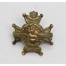 Victorian Derbyshire Regiment (Sherwood Foresters) Collar Badge