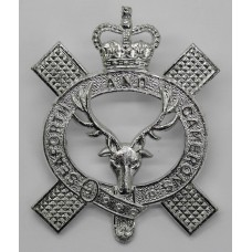 Queen's Own Highlanders (Seaforth and Camerons) Anodised (Staybrite) Pipers Cap Badge