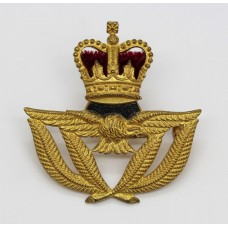Royal Air Force (R.A.F.) Warrant Officer's Beret Badge - Queen's