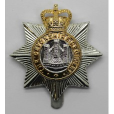 Devonshire Regiment Anodised (Staybrite) Cap Badge - Queen's Crown