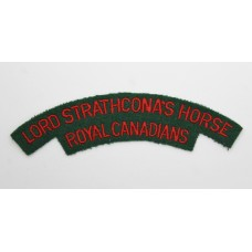 Lord Strathcona's Horse Royal Canadians Cloth Shoulder Title