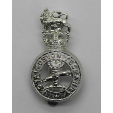 Royal Devon Yeomanry Anodised (Staybrite) Cap Badge - Queen's Cro