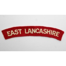 East Lancashire Regiment (EAST LANCASHIRE) Cloth Shoulder Title