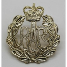 Royal Air Force (R.A.F.) Anodised (Staybrite) Cap Badge - Queen's Crown
