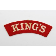 The King's Regiment (KING'S) Cloth Shoulder Title
