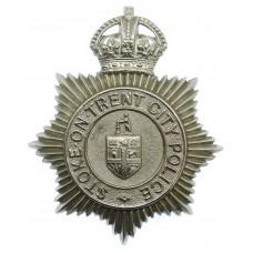 Stoke-on-Trent City Police Helmet Plate - King's Crown