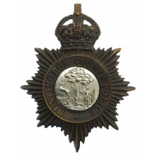 Huntingdonshire County Constabulary Night Helmet Plate - King's C