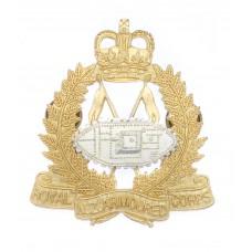 Royal New Zealand Armoured Corps Cap Badge - Queen's Crown