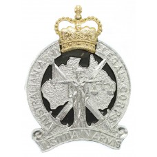 Australian Army Legal Corps Anodised (Staybrite) Cap Badge - Queen's Crown