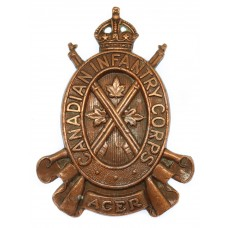 Canadian Infantry Corps Cap Badge- King's Crown
