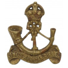 1st King's African Rifles Cast Cap Badge - King's Crown