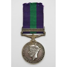 General Service Medal (Clasp - Palestine 1945-48) - Cpl. W. Robin