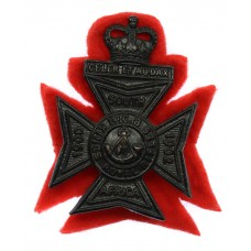 1st Cadet Bn. King's Royal Rifle Corps Cap Badge - Queen's Crown