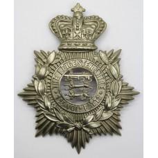 Victorian 1st Volunteer Bn. Leicestershire Regiment Helmet Plate