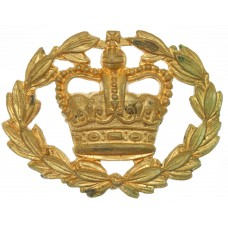 British Army Warrant Officer Class 2 W.O.II Brass Arm Badge - Queen's Crown