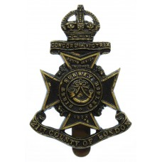 21st County of London Bn. (First Surrey Rifles) London Regiment Cap Badge