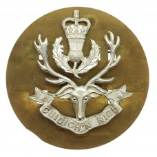 Queen's Own Highlanders Anodised (Staybrite) Cap Badge