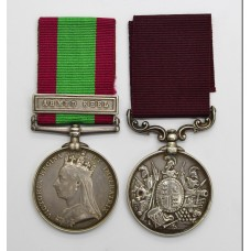 Afghanistan 1878-80 Medal (Clasp - Ahmed Khel) and Long Service & Good Conduct Medal - Pte. T. Haywood, 59th (2nd Nottinghamshire) Regiment of Foot / East Lancashire Regiment