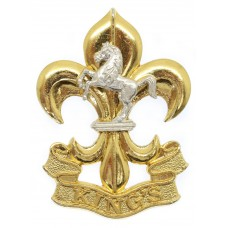 The King's Regiment Bi-metal Cap Badge