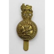 Royal Devon Yeomanry Artillery Cap Badge - Queen's Crown