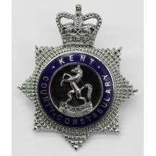 Kent County Constabulary Senior Officer's Enamelled Cap Badge - Q