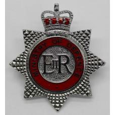 Ministry of Defence Fire Brigade Enamelled Cap Badge - Queen' Cro