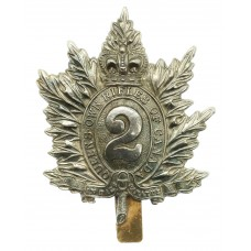 Canadian 2nd Queen's Own Rifles of Canada Cap Badge - Queen's Crown