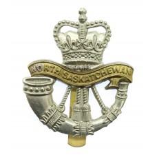 Canadian North Saskatchewan Regiment Cap Badge - Queen's Crown