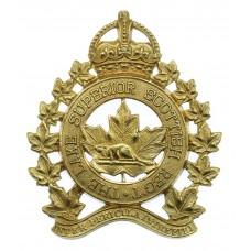 Canadian Lake Superior Scottish Regiment Cap Badge - King's Crown