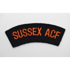 Sussex Army Cadet Force (SUSSEX ACF) Cloth Shoulder Title