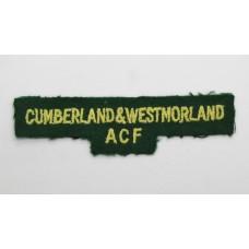 Cumberland & Westmorland Army Cadet Force (CUMBERLAND & WESTMORLAND ACF) Cloth Shoulder Title