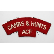 Cambridgeshire & Huntingdonshire Army Cadet Force (CAMBS &amp