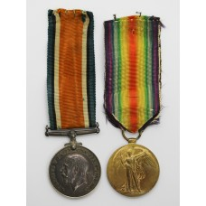 WW1 British War & Victory Medal Pair - Pte. E.W. Whittaker, L