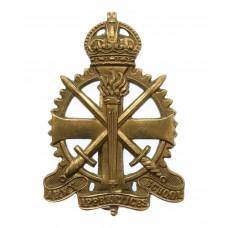 Army Apprentices School Cap Badge - King's Crown