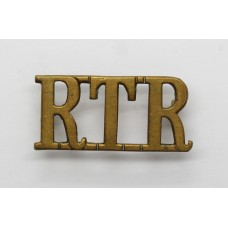 Royal Tank Regiment (R.T.R.) Brass Shoulder Title