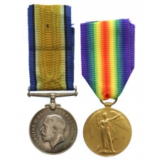 WW1 British War & Victory Medal Pair - Gnr. A. Trueman, Royal Artillery