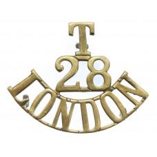 28th Bn. (Artist Rifles) London Regiment (T/28/LONDON) Shoulder T