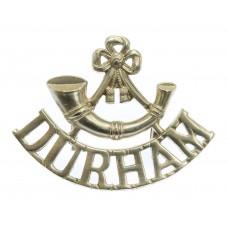 Durham Light Infantry White Metal Shoulder Title