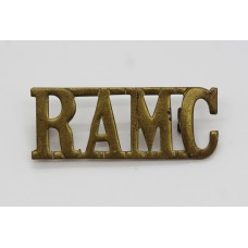 Royal Army Medical Corps (R.A.M.C.) Brass Shoulder Title