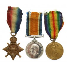 WW1 1914-15 Star Medal Trio - Pte. E. Bright, Royal Warwickshire Regiment