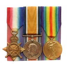 WW1 1914-15 Star Medal Trio - Gnr. J.H. Graves, Royal Artillery - Wounded