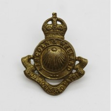 Lincoln and Welland Regiment, Canada, Brass Collar Badge - King's Crown