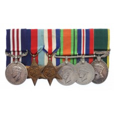 WW2 North-West Europe Military Medal Group of Six - Sgt. A.S. Campbell, Royal Artillery