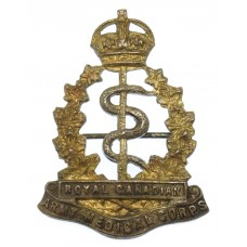 Royal Canadian Army Medical Corps Sweetheart Brooch - King's Crown