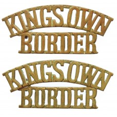 Pair of King's Own Royal Border Regiment (KING'S OWN/BORDER) Shoulder Titles