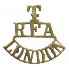 London Territorials Royal Field Artillery (T/R.F.A/LONDON) Shoulder Title