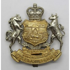 Canadian King's Own Calgary Regiment Cap Badge - Queen's Crown