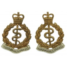 Pair of Royal Army Medical Corps (R.A.M.C.) Collar Badges - Queen's Crown