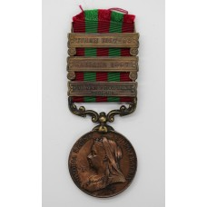 1895 India General Service Medal (Bronze) (Clasps - Punjab Fronti
