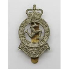 Isle of Man Home Guard Cap Badge - Queen's Crown
